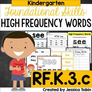 RF.K.3.c High Frequency Sight Words