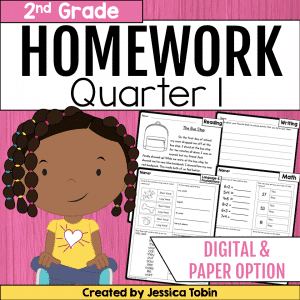 2nd Grade Homework- 1st Quarter