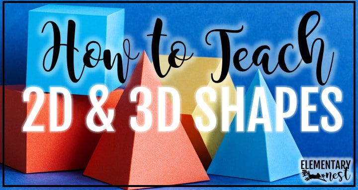 2D and 3D shapes blog with shapes in background