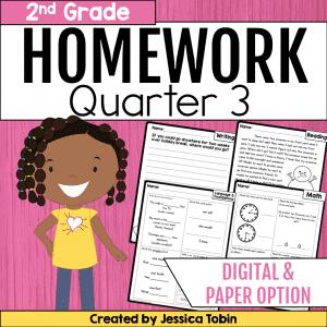 Homework Second Grade- 3rd Quarter