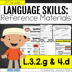 L.3.2.g and L.3.4.d Dictionary Skills and Reference Materials