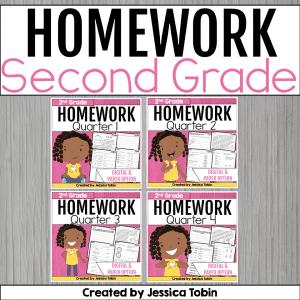 Second Grade Homework Bundle