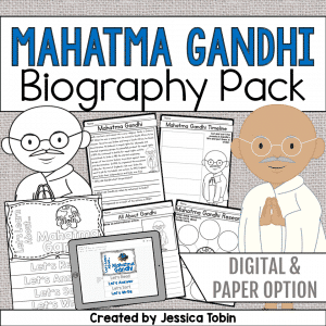 Mahatma Gandhi Biography Pack