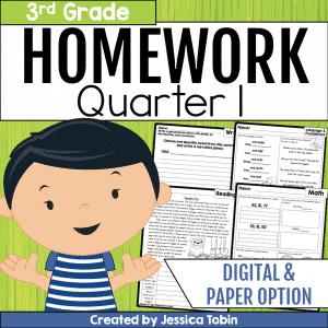 3rd Grade Homework- 1st Quarter