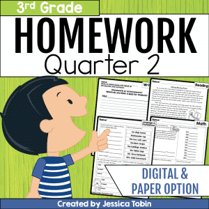 3rd Grade Homework- 2nd Quarter