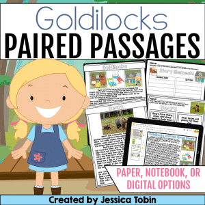 Goldilocks and the Three Bears Paired Passages