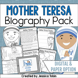 Mother Teresa Biography Pack