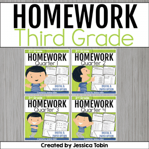 3rd Grade Homework Bundle