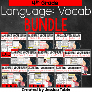 4th Grade Language Vocabulary Bundle