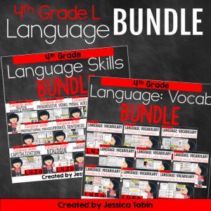 4th Grade Language Domain Bundle