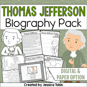 Thomas Jefferson Biography Pack
