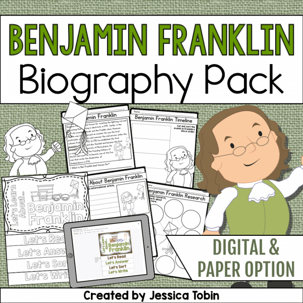 Benjamin Franklin Biography Pack