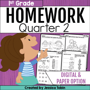First Grade Homework- 2nd Quarter