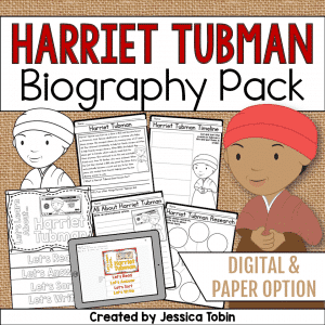 Harriet Tubman Biography Pack