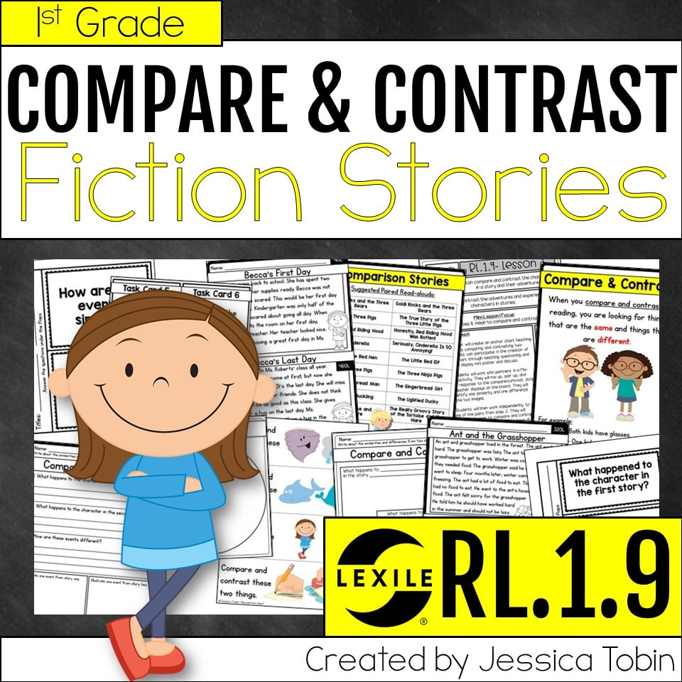 1st grade compare and contrast fiction stories unit