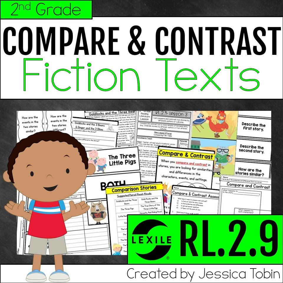 2nd grade compare and contrast fiction texts unit