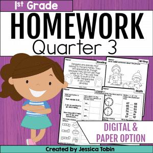 Homework First Grade- 3rd Quarter