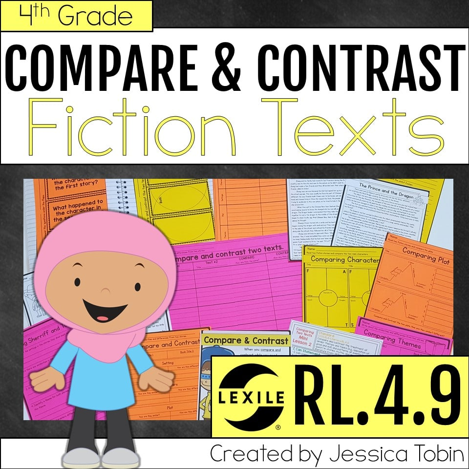 4th grade compare and contrast fiction texts unit