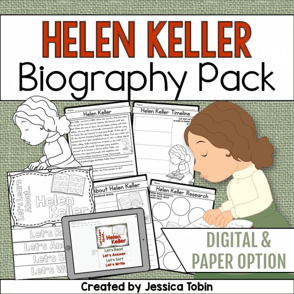 Helen Keller Biography Pack