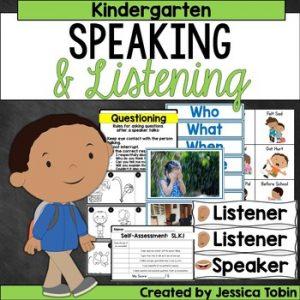 Kindergarten Speaking and Listening