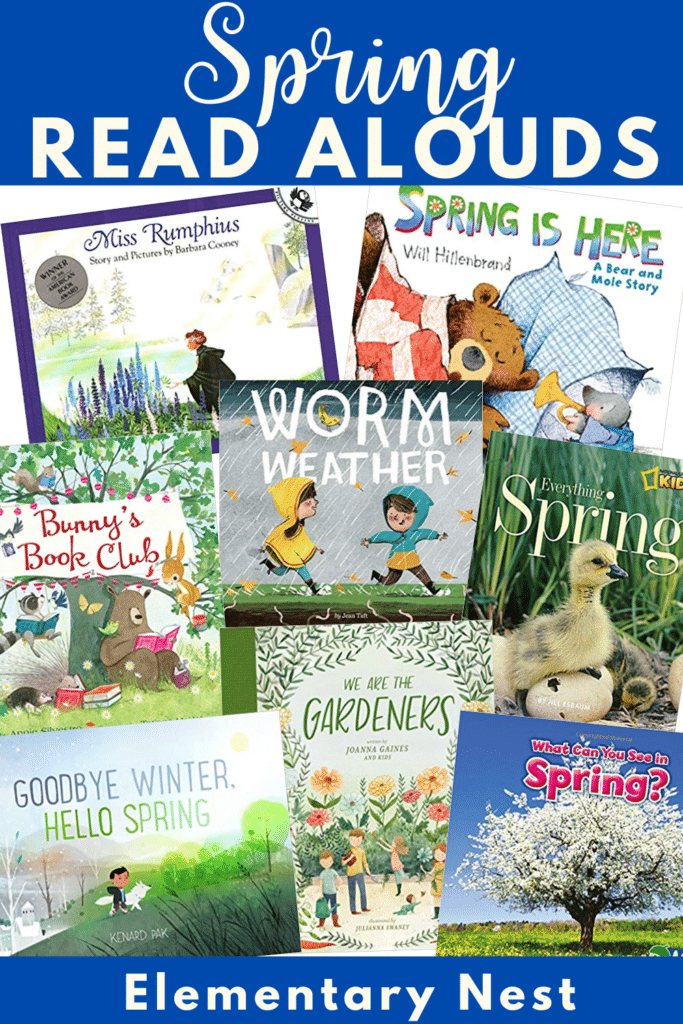 Collection of spring themed books