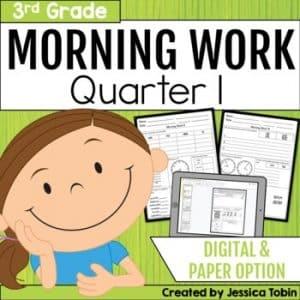 Third Grade Morning Work 1st Quarter
