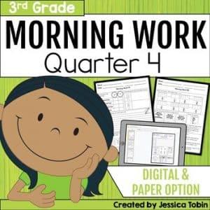 Third Grade Morning Work 4th Quarter