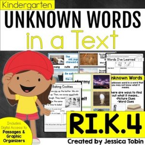 RI.K.4 Unknown Words in Nonfiction