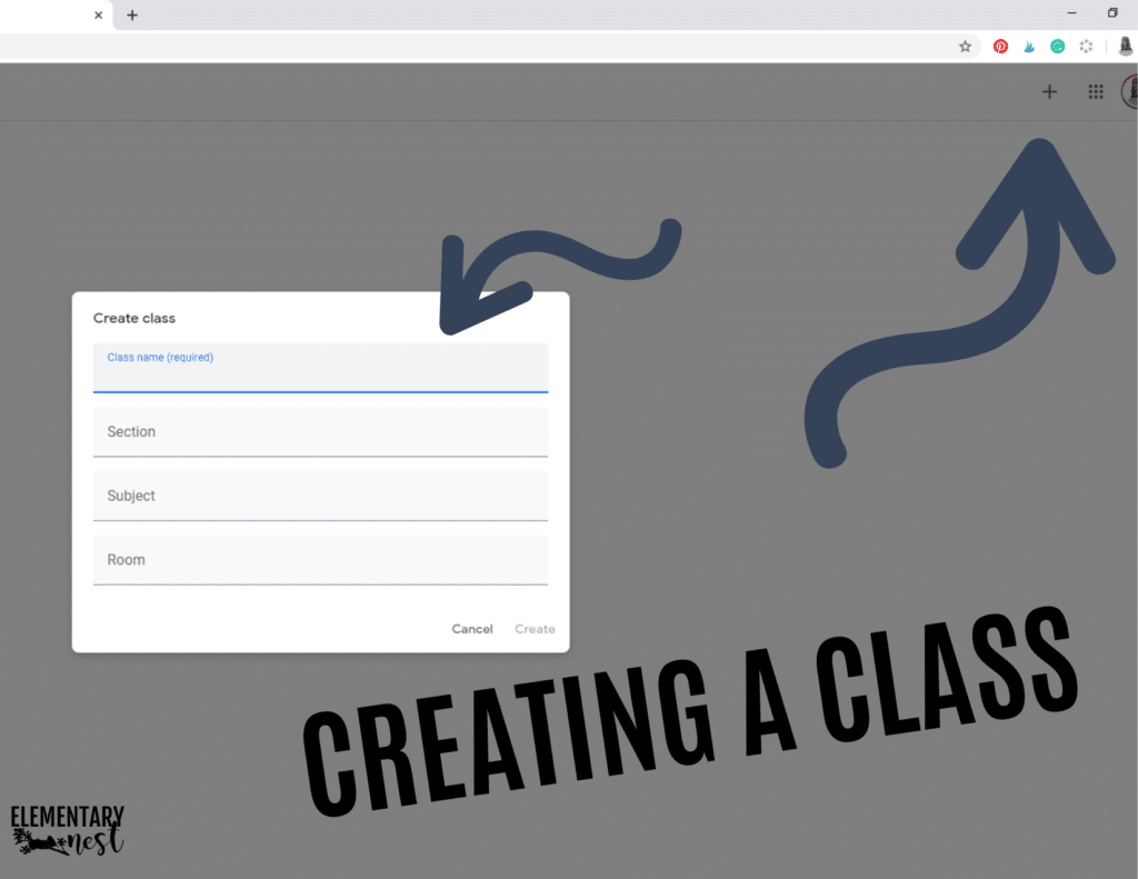 creating a class in google classroom