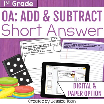 1st Grade Math Word Problems OA Addition and Subtraction