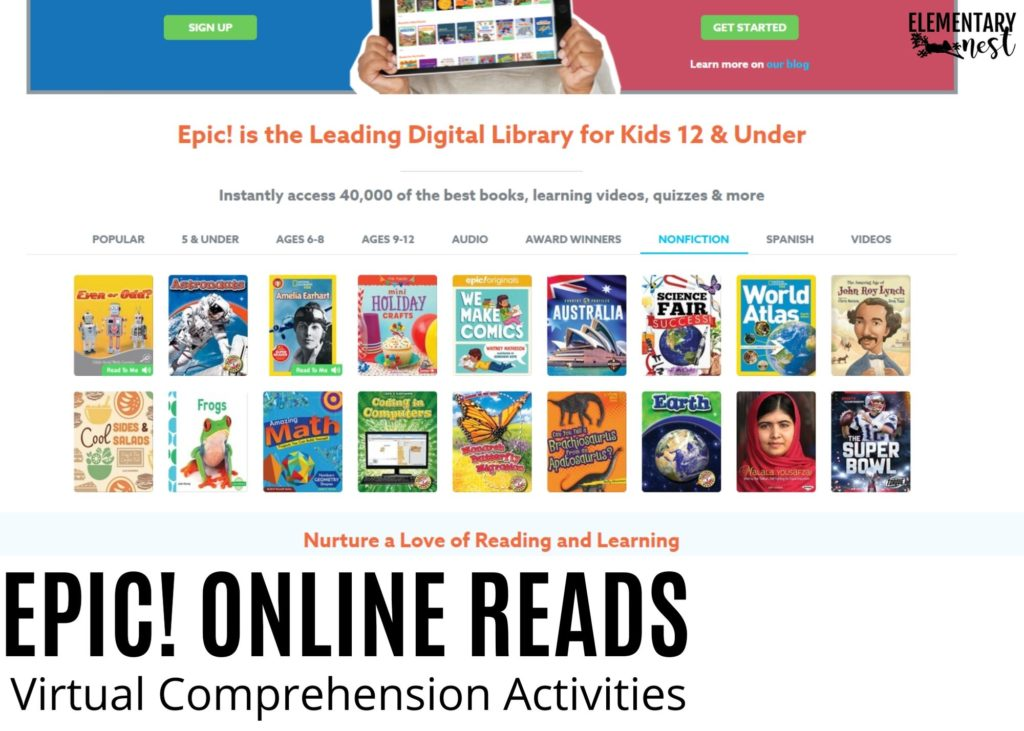 Epic digital library resource for kids