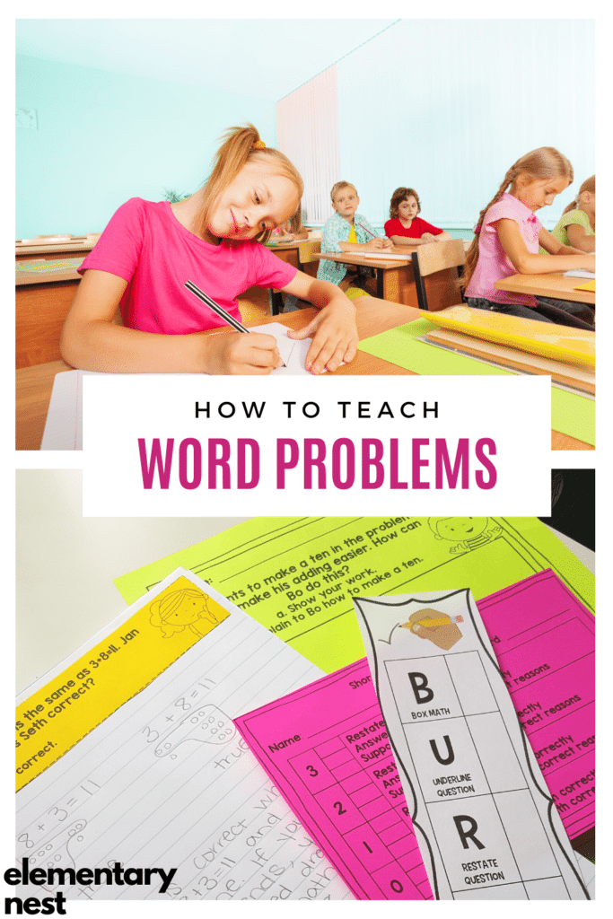 Word problem blog post with students in a classroom