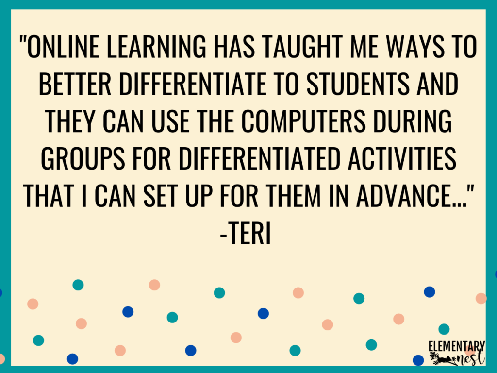Quote about growing from distance learning