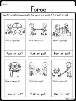 Force and Motion Worksheets   Elementary Nest