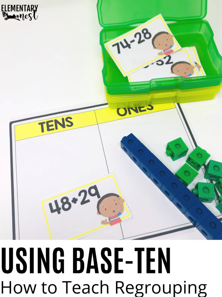 Base-Ten Blocks and Place Value Mat for Regrouping activity