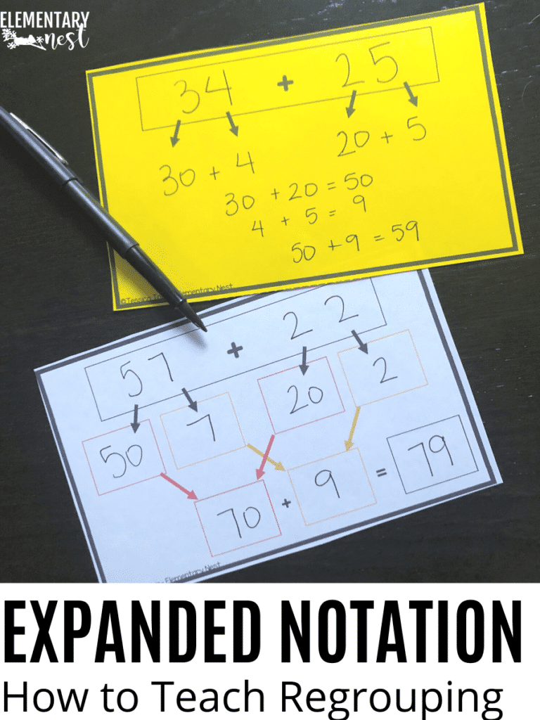 Expanded notation activity for regrouping