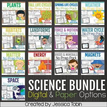 Science Worksheets No-Prep Bundle