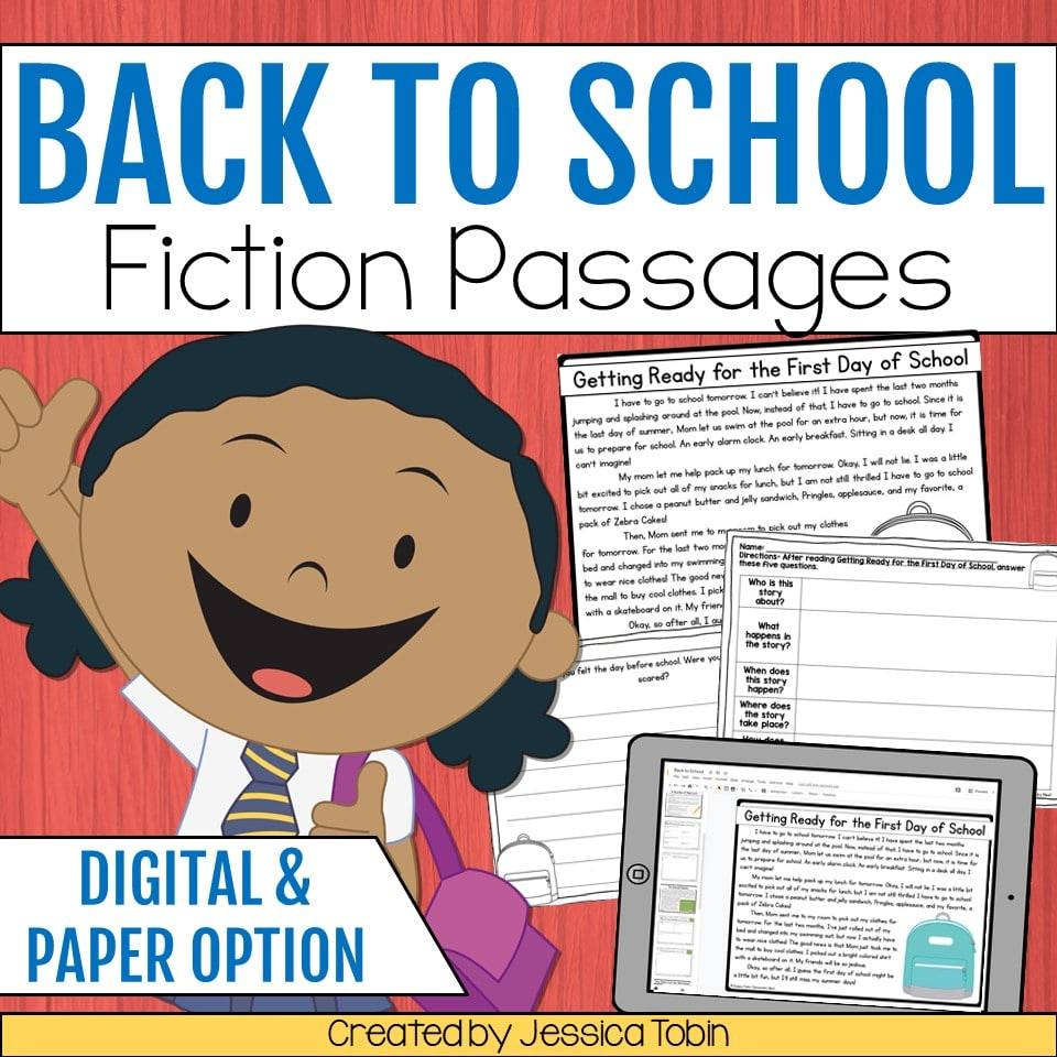Back to school fiction passages