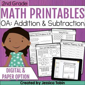 2nd Grade OA Math Worksheets