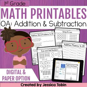 1st Grade OA Math Printables Worksheets