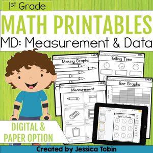 1st Grade Measurement and Data Math Worksheets