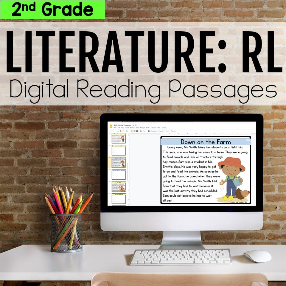 Literature Digital Reading Passages