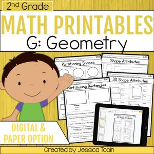 2nd Grade Geometry Math Worksheets