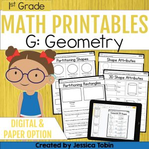 1st Grade Geometry Math Worksheets