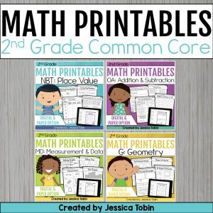 2nd Grade Math Worksheets Bundle