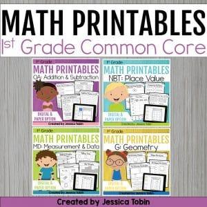 1st Grade Math Worksheets Bundle