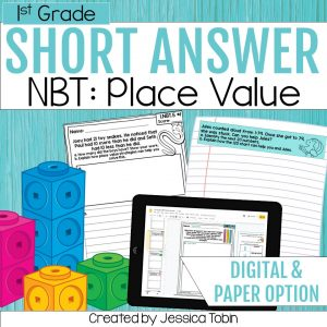 1st Grade Math Word Problems NBT and Place Value