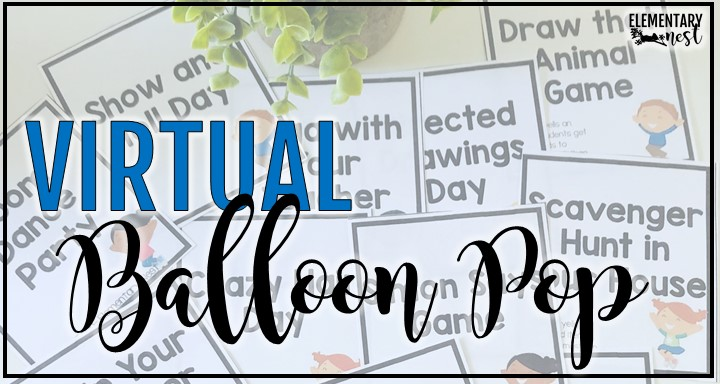 balloon pop incentive activity