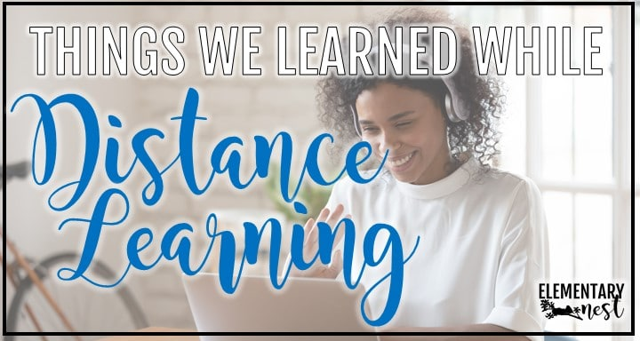 blog post cover for 'things we learned while distance learning'