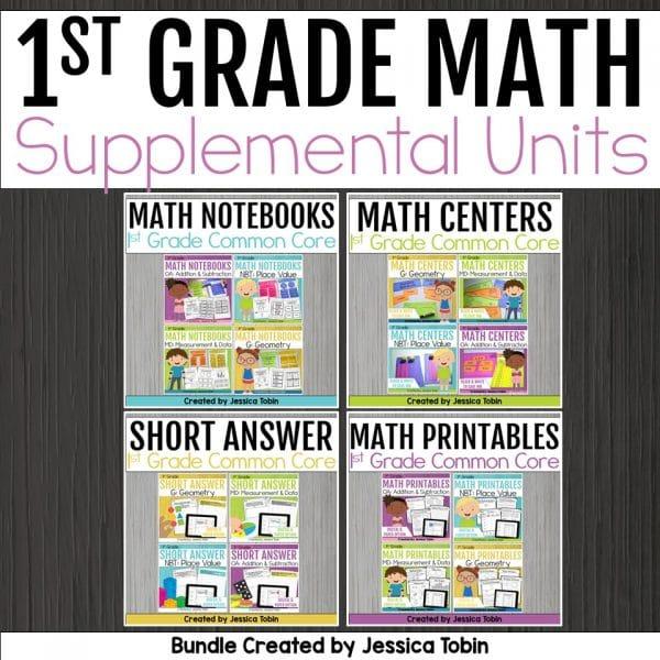 1st Grade Common Core Math Bundle